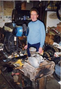 David Hamer with the Fox Cub in his cellar.