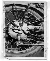 Rear wheel hub and frame under development